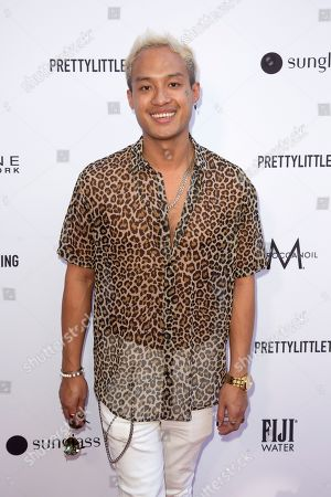 Jesse Montana arrives at the 2019 Daily Front Row's Fashion Los Angeles Awards at The Beverly Hills Hotel, in Beverly Hills, Calif
