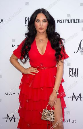 Stock Photo of Natalie Halcro arrives at the 2019 Daily Front Row's Fashion Los Angeles Awards at The Beverly Hills Hotel, in Beverly Hills, Calif