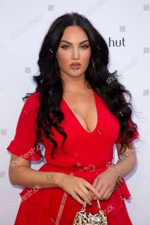 Natalie Halcro arrives at the 2019 Daily Front Row's Fashion Los Angeles Awards at The Beverly Hills Hotel, in Beverly Hills, Calif