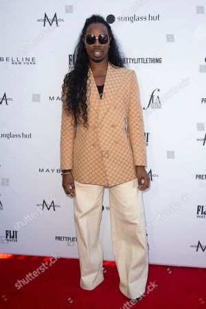 EJ King arrives at the 2019 Daily Front Row's Fashion Los Angeles Awards at The Beverly Hills Hotel, in Beverly Hills, Calif