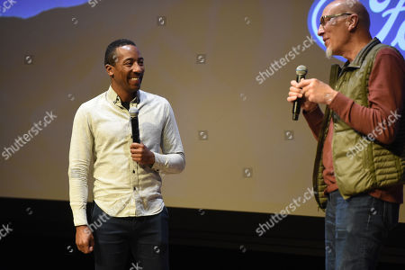 Steven Wilson and Roy Conli attend the 2019 Sun Valley Film Festival DisneyNature's 'Penguins' presented by Ford held at the Argyros theatre in Sun Valley, ID