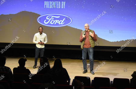 Stock Picture of Steven Wilson and Roy Conli attend the 2019 Sun Valley Film Festival DisneyNature's 'Penguins' presented by Ford held at the Argyros theatre in Sun Valley, ID