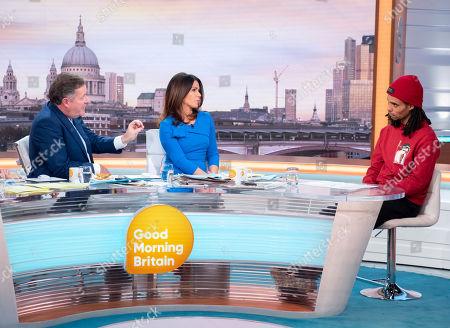 Piers Morgan and Susanna Reid with Akala