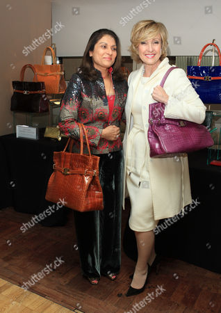 Guest and Lana Marks and her collection of hand bags