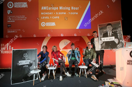 Stock Image of Nick Corston (Co-Founder/CEO, STEAM Co.), Chrissy Levett (Founder + CEO, Creative Conscience), Amelia Richards (Commercial Director, Creative Industries Federation), Rob Da Bank (Festival Guru, Camp Bestival) and Mark Earls (Herdmeister, Herd Consultancy)
