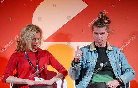 Stock Picture of Amelia Richards (Commercial Director, Creative Industries Federation) and Rob Da Bank (Festival Guru, Camp Bestival)