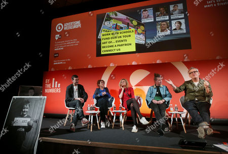 Nick Corston (Co-Founder/CEO, STEAM Co.), Chrissy Levett (Founder + CEO, Creative Conscience), Amelia Richards (Commercial Director, Creative Industries Federation), Rob Da Bank (Festival Guru, Camp Bestival) and Mark Earls (Herdmeister, Herd Consultancy)