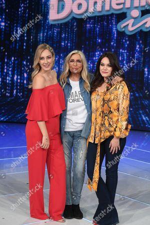 Mara Venier with Cristel and Romina Carrisi