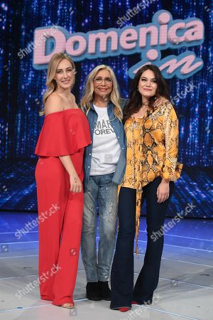 Mara Venier with Cristel and Romina Carrisi