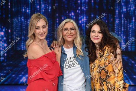 Stock Image of Mara Venier with Cristel and Romina Carrisi