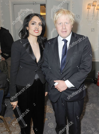 Renu Mehta and Boris Johnson