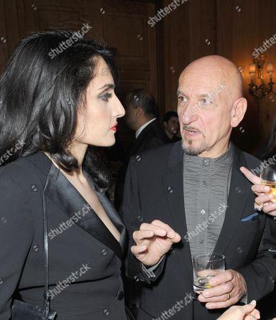 Renu Mehta and Sir Ben Kingsley