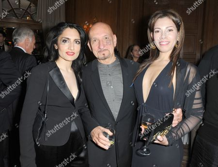Renu Mehta, Sir Ben Kingsley and Daniela Barbosa de Carneiro