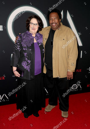 Stock Photo of Phyllis Smith and Leslie David Baker