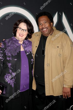 Phyllis Smith and Leslie David Baker