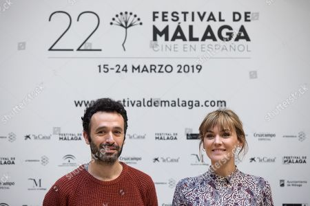 """Rodrigo Sorogoyen (L) and Spanish actress Marta Nieto (R) attend the premiere of the movie 'Mother', which is presented in the framework of the Five Minutes section of the 22nd Malaga Film Festival, in Malaga, Spain, 18 March 2019. """"Mother"""" is based in the homonymous Sorogoyen's Oscar-nominated short film of 2018, which will be part of the movie."""