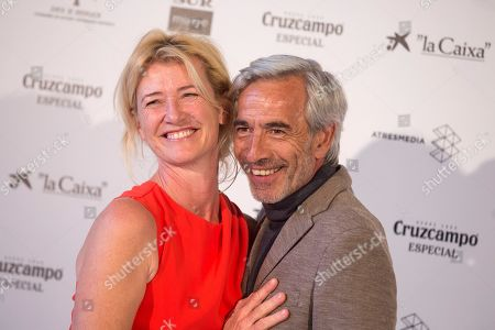 Ana Duato (L) and Imanol Arias (R) pose during the presentation of the 20th season of the show 'Cuentame como paso' on occasion of the 22nd Malaga Film Festival, in Malaga, Spain, 20 March 2019. 'Cuentame como paso' is considered to be a classic in Spanish TV series history, running now on its 20th season starting back in 2001.