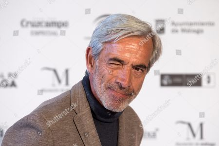 Imanol Arias poses during the presentation of the 20th season of the show 'Cuentame como paso' on occasion of the 22nd Malaga Film Festival, in Malaga, Spain, 20 March 2019. 'Cuentame como paso' is considered to be a classic in Spanish TV series history, running now on its 20th season starting back in 2001.