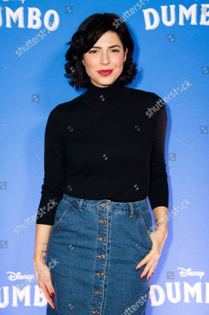"""Stock Picture of Cindy Sampson poses at the Canadian premiere of """"Dumbo"""", in Toronto"""