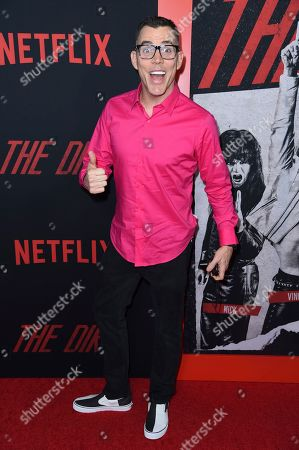 "Steve-O arrives at the world premiere of ""The Dirt"", at ArcLight Hollywood in Los Angeles"