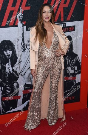 "Courtney Bingham arrives at the world premiere of ""The Dirt"", at ArcLight Hollywood in Los Angeles"