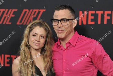 "Lux Wright, Steve-O. Lux Wright, left, and Steve-O arrive at the world premiere of ""The Dirt"", at ArcLight Hollywood in Los Angeles"