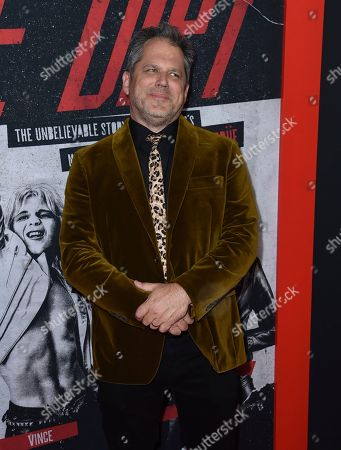"""Jeff Tremaine arrives at the world premiere of """"The Dirt"""", at ArcLight Hollywood in Los Angeles"""