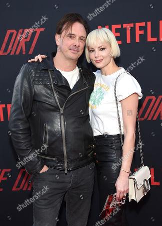 Stock Photo of Donovan Leitch and Libby Mintz