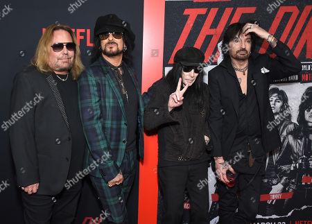 Vince Neil, Nikki Sixx, Mick Mars and Tommy Lee