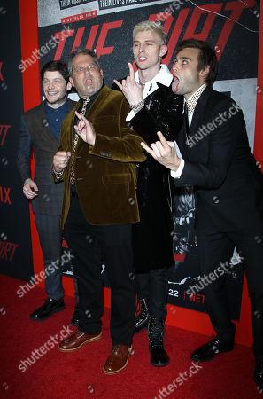 Iwan Rheon, Machine Gun Kelly, Douglas Booth and Jeff Tre