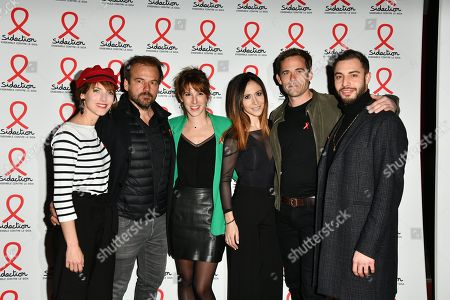 Stephane Henon, Lea Francois, Fabienne Carat, Guillaume Delorme and Marwan Berreni