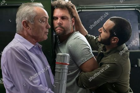 Udo Kier as Anton, Dane Cook as Charlie and Sebastian Sozzi as Gemini