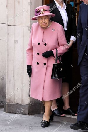 Editorial picture of Queen Elizabeth II and Catherine Duchess of Cambridge visit King's College to Open Bush House, London, UK - 19 Mar 2019