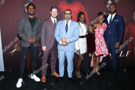 Yahya Abdul Mateen II, Tim Heidecker, Jordan Peele, Lupita Nyong'o, Evan Alex, Shahadi Wright Joseph and Winston Duke
