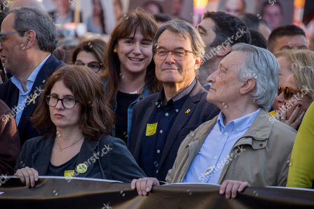 Stock Photo of Artur Mas i Gavarro, former president of Catalonia, seen during the protest.