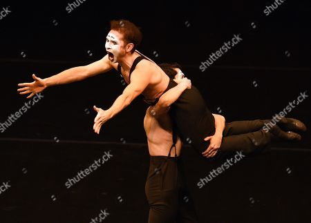 One-act ballet Fake Smile, to the music of Polish band Kroke, staged by choreographer Ross Freddie-Ray, is performed during an evening of one-act modern ballets organised by dancer Sergei Polunin.