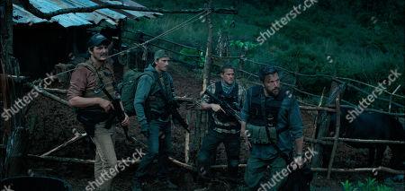 Pedro Pascal as Francisco 'Catfish' Morales, Garrett Hedlund as Ben Miller, Charlie Hunnam as William 'Ironhead' Miller and Ben Affleck as Tom 'Redfly' Davis