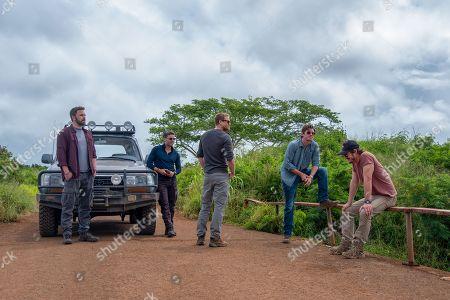 Ben Affleck as Tom 'Redfly' Davis, Oscar Issac as Santiago 'Pope' Garcia, Charlie Hunnam as William 'Ironhead' Miller, Garrett Hedlund as Ben Miller, Pedro Pascal as Francisco 'Catfish' Morales