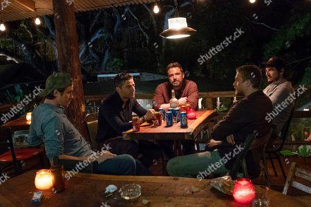 Garrett Hedlund as Ben Miller, Oscar Isaac as Santiago 'Pope' Garcia, Ben Affleck as Tom 'Redfly' Davis, Charlie Hunnam as William 'Ironhead' Miller and Pedro Pascal as Francisco 'Catfish' Morales