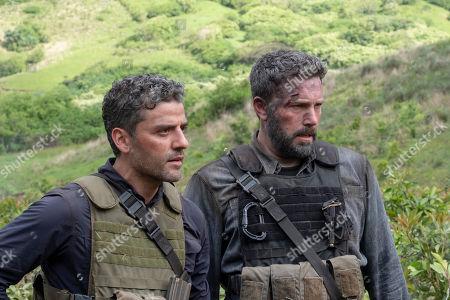 Oscar Isaac as Santiago 'Pope' Garcia and Ben Affleck as Tom 'Redfly' Davis