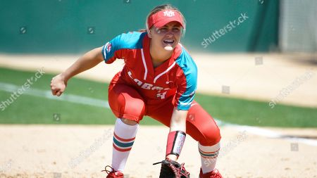 New Mexico's Taylor Jones plays during an NCAA softball game against San Diego State on in San Diego