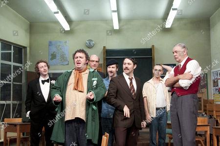 l-r: Michael Dylan (Mick Connor), Mark Benton (Ged Murray), Simon Kunz (Sammy Samuels), Billy Carter (George McBrain),
