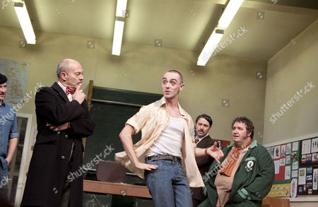 l-r: Billy Carter (George McBrain), Keith Allen (Bert Challoner), David Dawson (Gethin Price), Reece Shearsmith (Phil Murray), Mark Benton (Ged Murray)