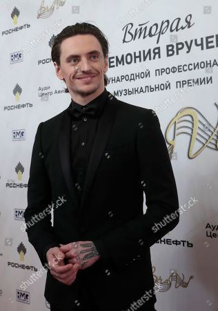Russian ballet dancer Sergei Polunin poses ahead of the 2nd award ceremony of the International Professional Music Award 'BraVo' in the field of classical arts at the Bolshoi Theatre in Moscow, Russia, 19 March 2019.