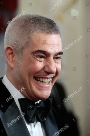Stock Image of Italian tenor Alessandro Safina poses ahead of the 2nd award ceremony of the International Professional Music Award 'BraVo' in the field of classical arts at the Bolshoi Theatre in Moscow, Russia, 19 March 2019.