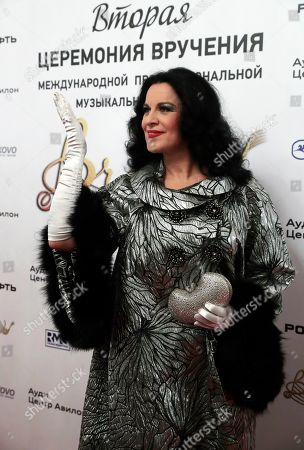 Romanian soprano Angela Gheorghiu attends the 2nd award ceremony of the International Professional Music Award 'BraVo' in the field of classical arts at the Bolshoi Theatre in Moscow, Russia, 19 March 2019.