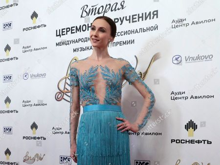 Bolshoi Theatre prima ballerina Svetlana Zakharova poses ahead of the 2nd award ceremony of the International Professional Music Award 'BraVo' in the field of classical arts at the Bolshoi Theatre in Moscow, Russia, 19 March 2019.