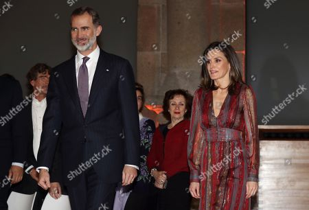 Editorial image of Spanish royal couple attend National Culture Awards ceremony in Madrid, Spain - 19 Mar 2019