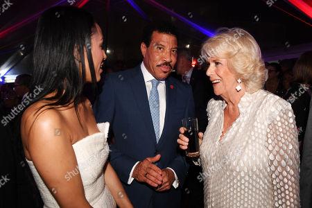 Lisa Parigi, Lionel Richie and Camilla Duchess of Cornwall