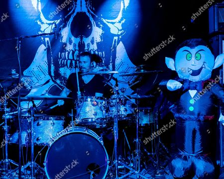 Los Angeles based drummer Logan Miles Nix performs with John 5 and The Creatures at The Vault, in New Bedford, Mass